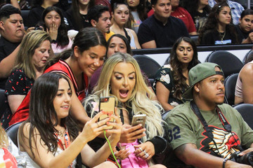 Tana Mongeau Ace Family Chris Brown Basketball Charity Event at Staples Center
