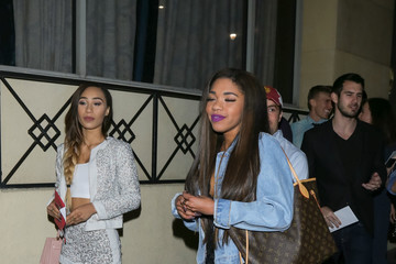 Teala Dunn Celebrities Are Seen Outside of the Roosevelt Hotel