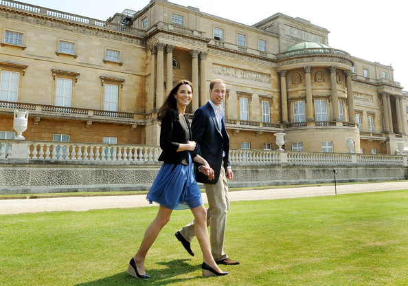 Prince WIlliam and Kate Middleton at Buckingham Palace