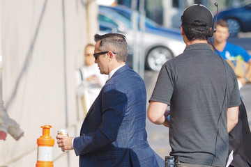 Thomas Lennon Matthew Perry Is Seen Arriving at 'Jimmy Kimmel Live'
