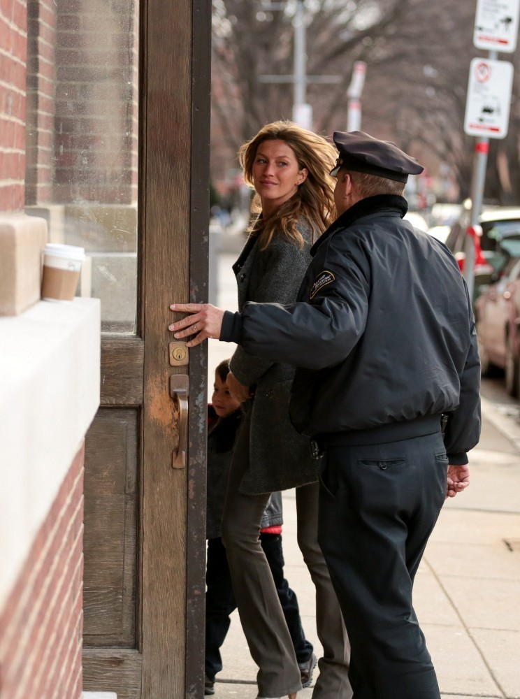 Tom Brady and Gisele Bundchen in Boston