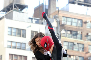Tom Holland Tom Holland And Zendaya Film 'Spider-Man: Far From Home' In NYC