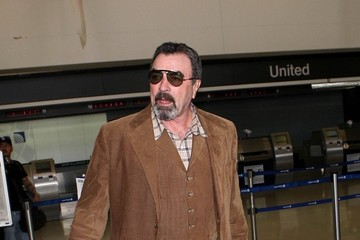 Tom Selleck Tom Selleck Spotted at LAX