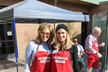 Torrie Wilson Sandra Taylor Outside of the Los Angeles Mission