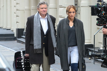 Treat Williams Jennifer Lopez on the Movie Set 'Second Act'