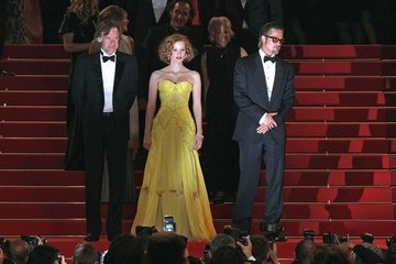 """Brad Pitt Jessica Chastain """"Tree of Life"""" premieres at Cannes"""