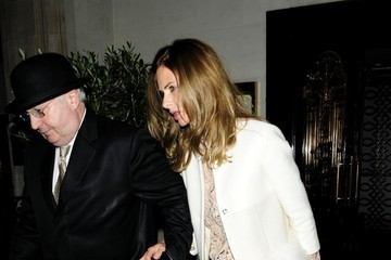 Trinny Woodall Charles Saatchi and Trinny Woodall Out to Dinner