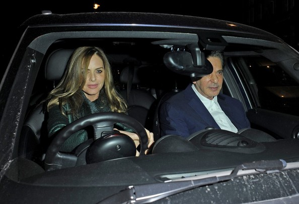 Charles Saatchi and Trinny Woodall Leave Scott's in London