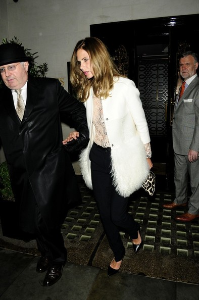 Charles Saatchi and Trinny Woodall Out to Dinner
