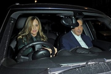 Trinny Woodall Charles Saatchi and Trinny Woodall Leave Scott's in London