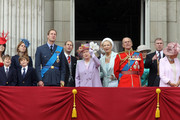 "The British Royal Family participates in the 2010 ""Trooping the Colour ""parade outside Buckingham Palace."