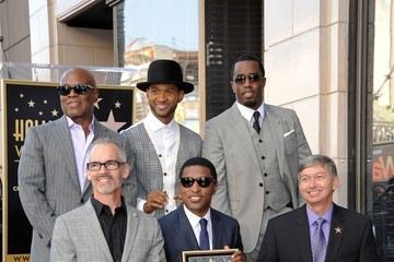 Usher Sean Combs Kenneth Edmonds Honored on the Walk of Fame