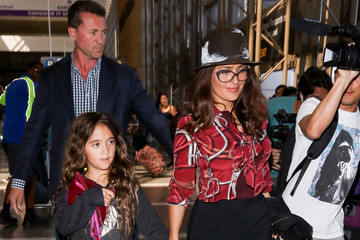 Valentina Paloma Pinault Salma Hayek and Daughter Valentina Paloma Pinault Hit LAX
