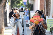 Vanessa Hudgens and mother Gina Guangco are seen in Los Angeles, California.