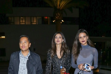 Victoria Justice Madison Justice Victoria Justice Leaves Dinner at NeueHouse