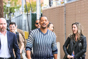 Will Smith is seen arriving at 'Jimmy Kimmel Live' in Los Angeles, California.