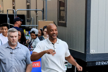 Will Smith Celebrity Sightings Outside the Omni Hotel