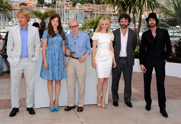 woody allen adrien brody photos midnight in paris photocall 34