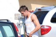 Zac Efron Spotted on Set