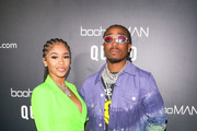 Saweetie and Quavo are seen attending the boohooMAN x Quavo Launch Party at The Sunset Room in Los Angeles, California.