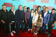 Andy Daly, Bill Robinson, Isabela Moner, Louie, Steve Carr, Alexa Nisenson, Thomas Barbusca, Griffin Gluck, Rob Riggle, Luke Hardeman, Jacob Hopkins and Leopoldo Gout are seen arriving for the premiere of CBS Films' 'Middle School: The Worst Years Of My Life' - Arrivals at TCL Chinese 6 Theaters.
