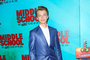 Jacob Hopkins is seen arriving for the premiere of CBS Films' 'Middle School: The Worst Years Of My Life' - Arrivals at TCL Chinese 6 Theaters.