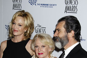 Celebrities arrive at the 24th Genesis Awards at the Beverly Hilton Hotel in Beverly Hills.