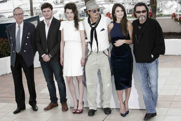 "Celebrities attend the ""Pirates of the Caribbean: On Stranger Tides"" photo call during the 64th Annual Cannes Film Festival."