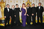 Celebrities pose in the press room at the 82nd Annual Academy Awards at the Kodak Theatre in Hollywood, CA.