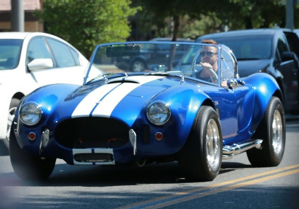 Aaron Paul Out Cruising His Classic Car In Los Angeles Of