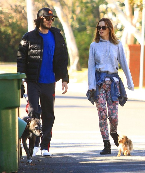 Adam Brody and Leighton Meester Walk Their Dogs