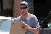 Adam Sandler Out Grocery Shopping In Malibu