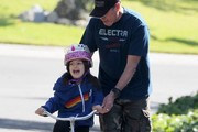 Adam Sandler Rides Bikes with His Family