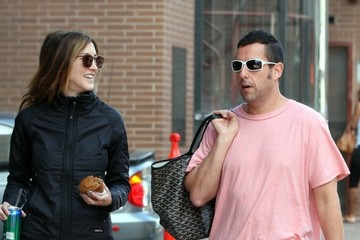 Adam Sandler Adam and Jackie Sandler Out For A Stroll In Beverly Hills