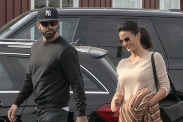 Adrian Bellani Emmanuelle Chriqui and Adrian Bellani Stop by the Brentwood Country Mart