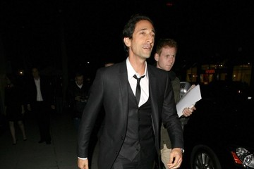 Adrien Brody Celebs Get Dinner in Beverly Hills