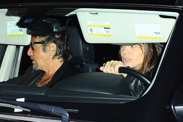 Al Pacino Al Pacino and Lucila Sola Out to Dinner