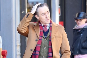 Alan Cumming Stars Perform on the Set of 'Instinct' in New York City