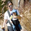 Ever Treadway Alanis Morissette And Son Out Walking Their Dog