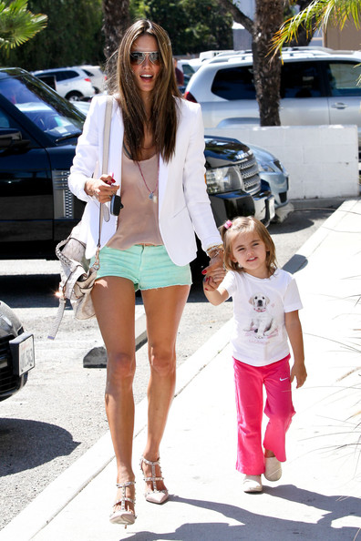 Brazilian 'Victoria's Secret' model Alessandra Ambrosio and her daughter Anja were all smiles while they stopped by PetCo in Los Angeles, CA on September 24th, 2012.