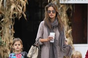 Alessandra Ambrosio & Kids At The Brentwood Country Mart