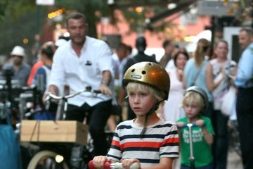 Alexander Schreiber Liev Schreiber Out For A Bike Ride With His Boys In NYC