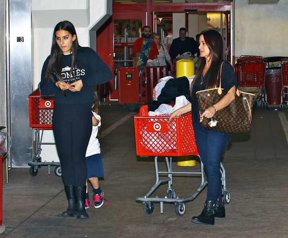 Kyle Richards Shops At Target