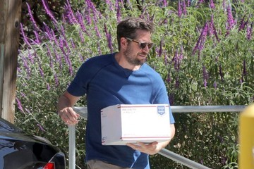 Alexis Denisof Alyson Hannigan and Alexis Denisof Go out in Brentwood