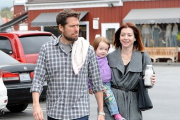 Alexis Denisof Alyson Hannigan and Her Family Get Breakfast