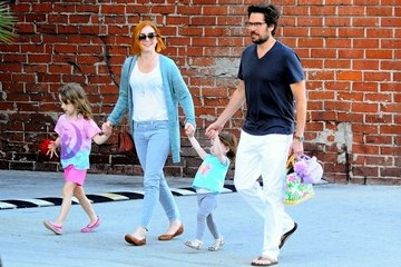 Alexis Denisof Alyson Hannigan & Family Have Dinner & Froyo