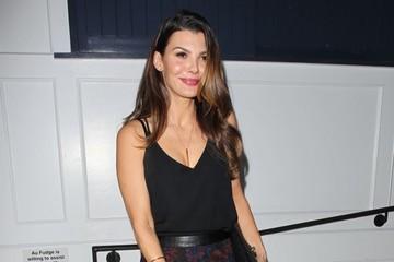 Ali Landry Celebrities Go Out for Dinner at Au Fudge