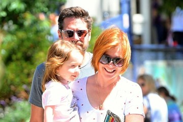 Alyson Hannigan Alexis Denisof Alyson Hannigan and Her Family Spend Time in Brentwood