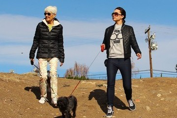 Amanda Bynes Amanda Bynes and Her Parents Walk Their Dogs
