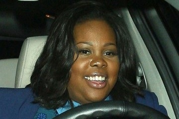 Amber Riley Amber Riley Gets Dinner in Beverly Hills